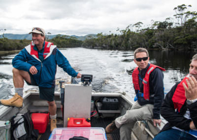 Guests-travel-in-tender-through-Melaleuca-Inlet-to-Odalisque