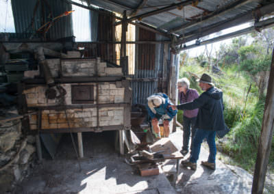 Guests-exploring-old-tin-mine-at-Melaleuca